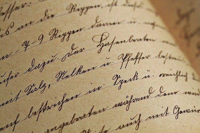 psací písmo