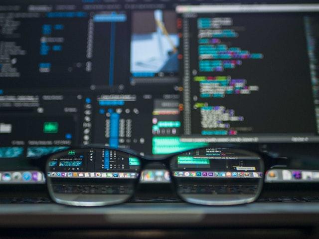 brýle, data, počítač