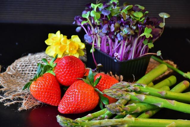 ovoce, zelenina a klíčky